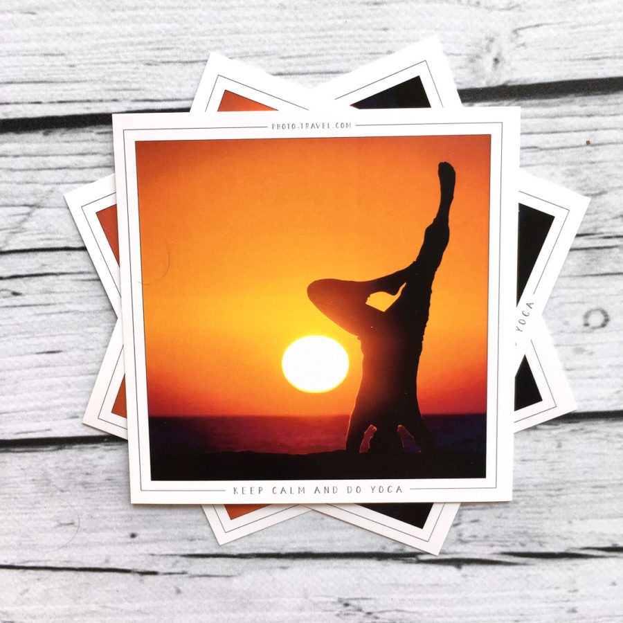 Открытка «Keep calm and do yoga»