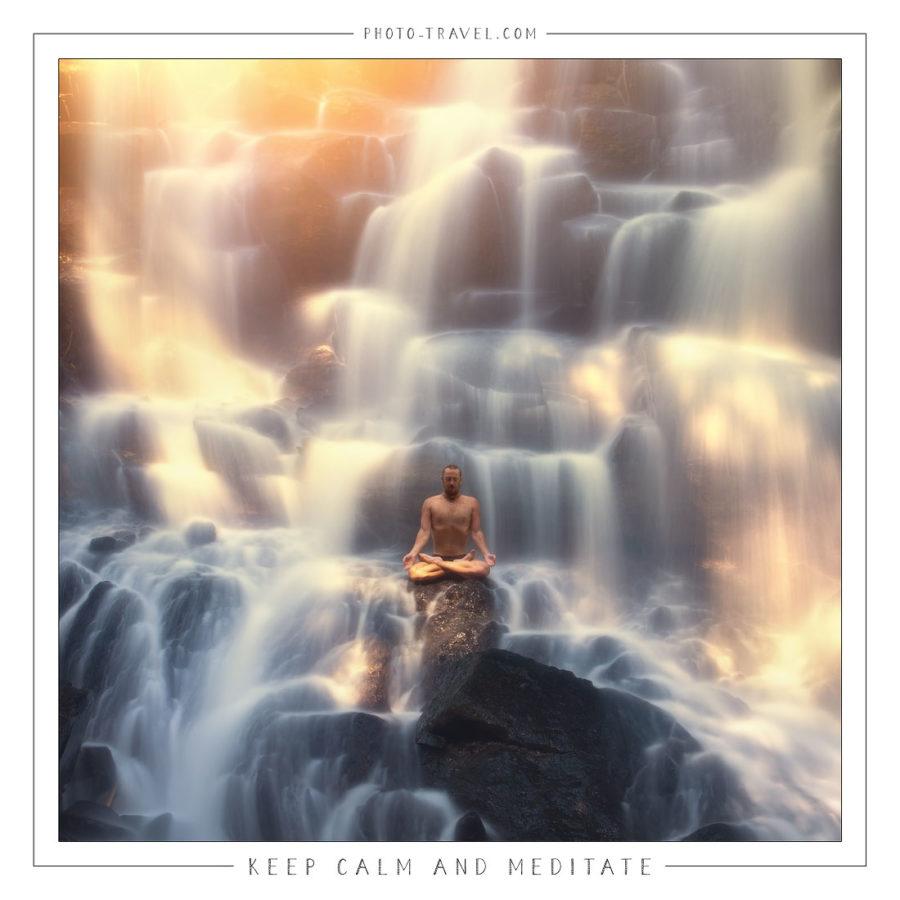 Открытка «Keep Calm and Meditate»